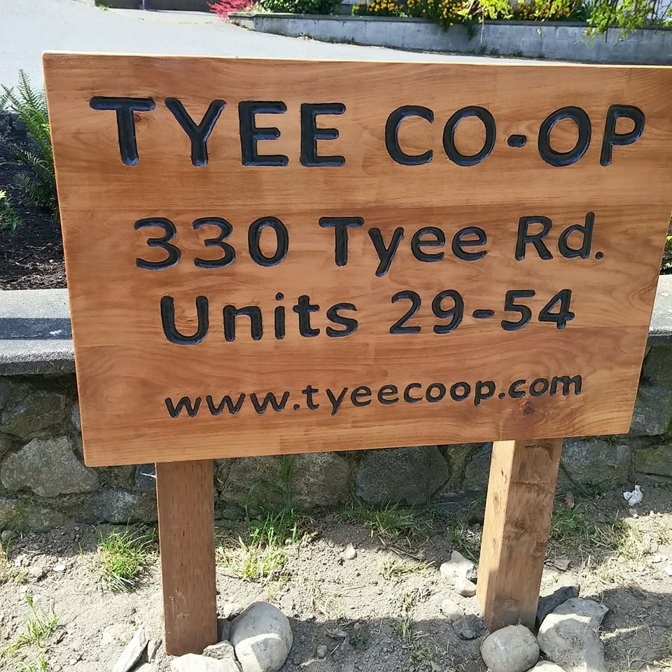 Tyee Co-op Sign